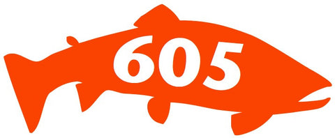 605 Trout Decal/Sticker Orange