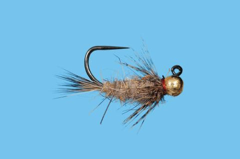 3 Tungsten Beaded Red Flash Hares Ears Jig Hooked Nymphs