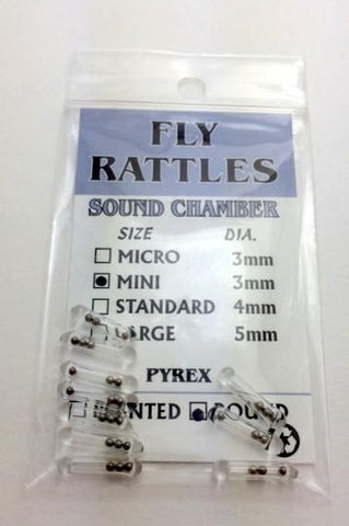 Wapsi Glass Fly Rattle Fly Tying Rounded End