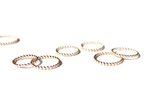 Asteroid Rings // gold filled