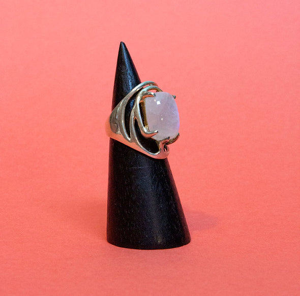 Clawset Moonstone Ring
