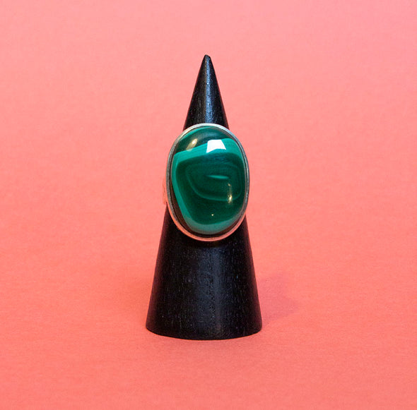 Malachite Ring  Sz 9