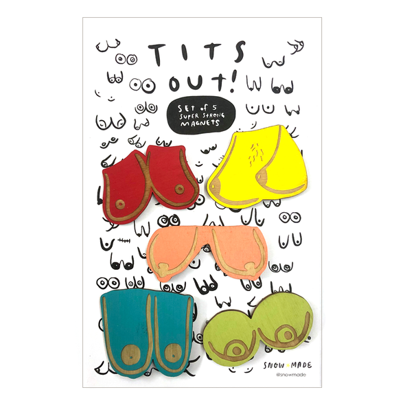 Tits Out :: Set of 5 Magnets