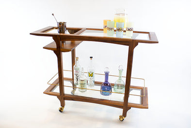 Black Walnut Hand Built Barcart