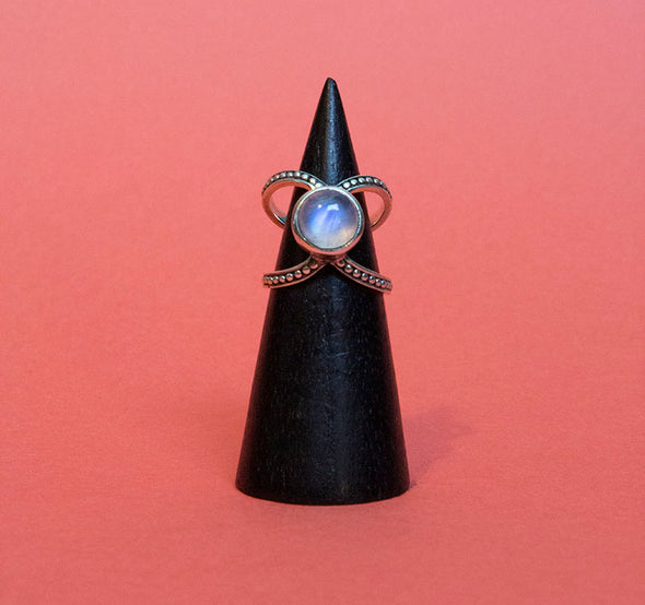Infinity Moonstone Ring