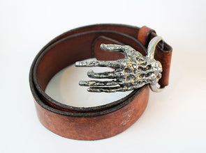 Skeletal Hand Belt Buckle w/ belt