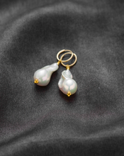 Load image into Gallery viewer, Baroque freshwater pearl earrings Large