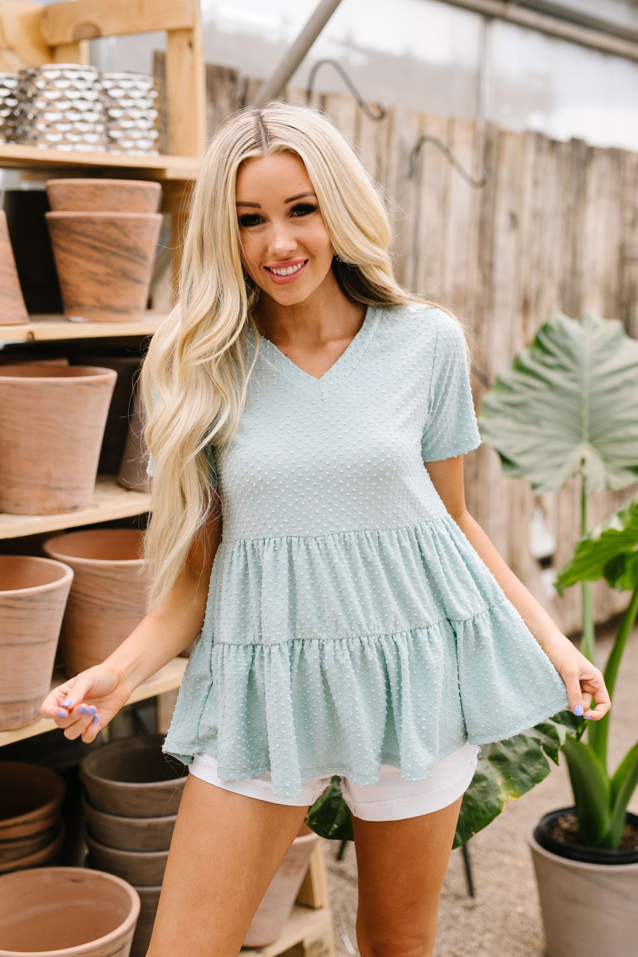 Tiffany Tiered Floral Top