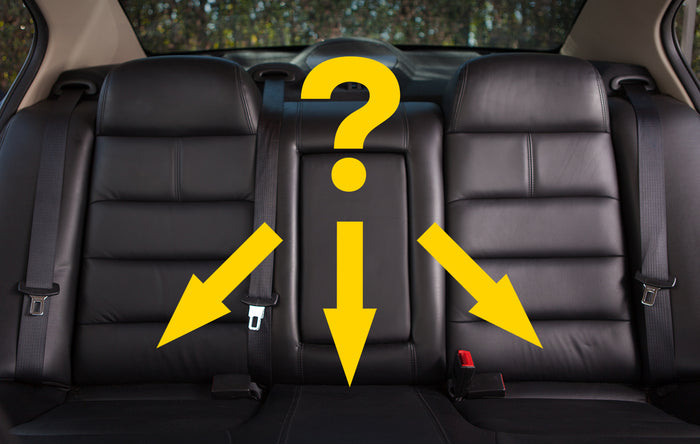 Which is the safest position for a car seat?