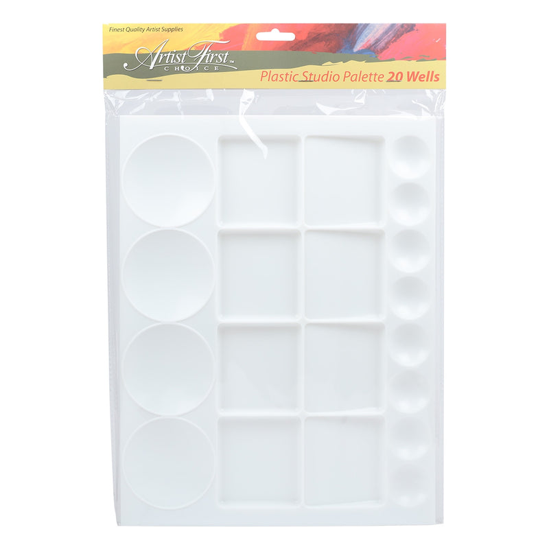Artist First Choice 20 Well Palette Plastic 13 x 9 Inches
