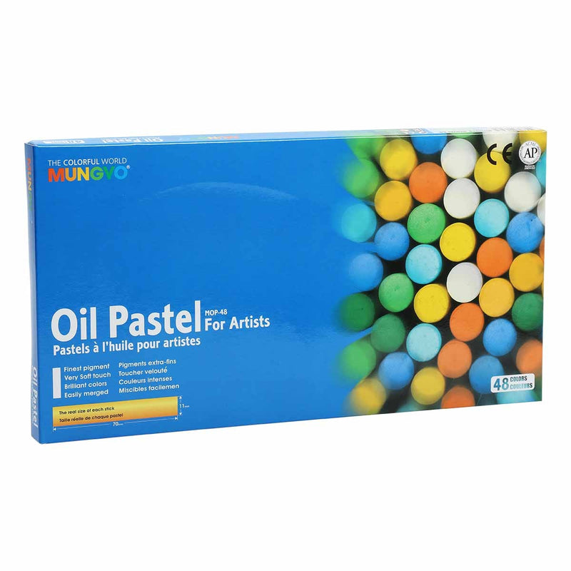 Royal Blue Mungyo Oil Pastels Set of 48 Pastels And Charcoal