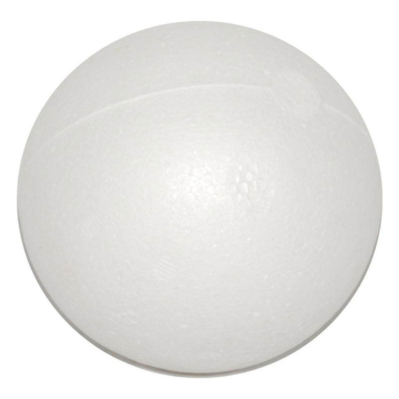 Antique White Carnival Polyfoam Ball 100mm Polystyrene