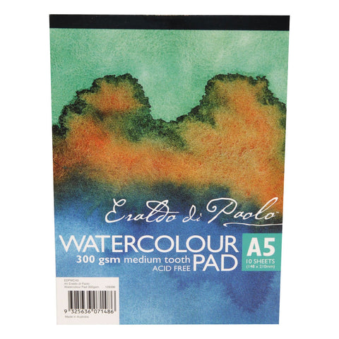 Eraldo Di Paolo A5 Watercolour Pad Cold Pressed 300gsm 10 Sheets