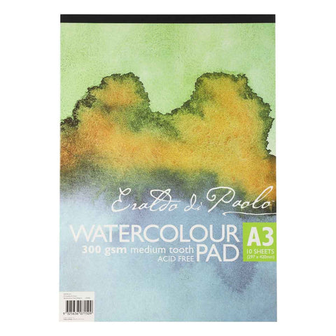 Eraldo Di Paolo A3 Watercolour Pad Cold Pressed 300gsm 10 Sheets
