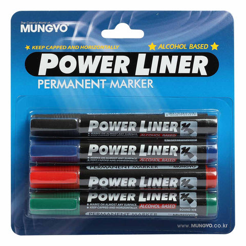 Mungyo Permanent Marker 4 Pack