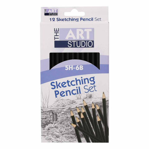 The Art Studio Artist Sketching Pencils 12 Pieces
