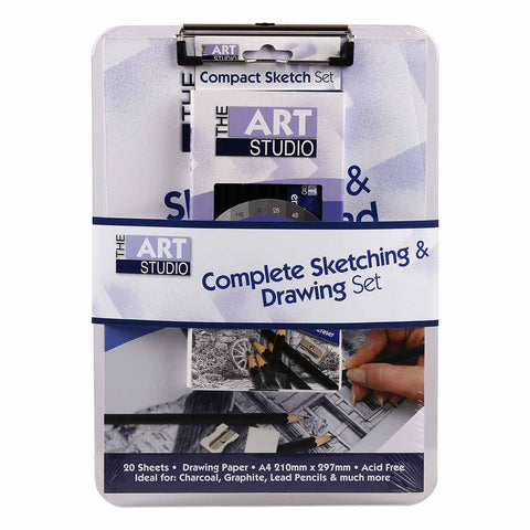 The Art Studio Complete Sketching & Drawing Set