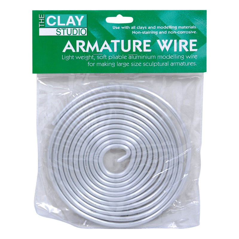 Light Steel Blue The Clay Studio Aluminium Armature Wire 4.8mm x 3m Modelling
