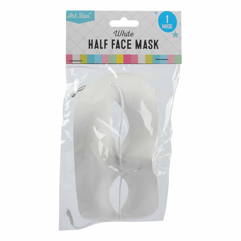 Art Star Half Face Mask - White