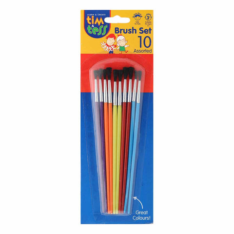 Tim & Tess Kids Brushes Asst 10pcs