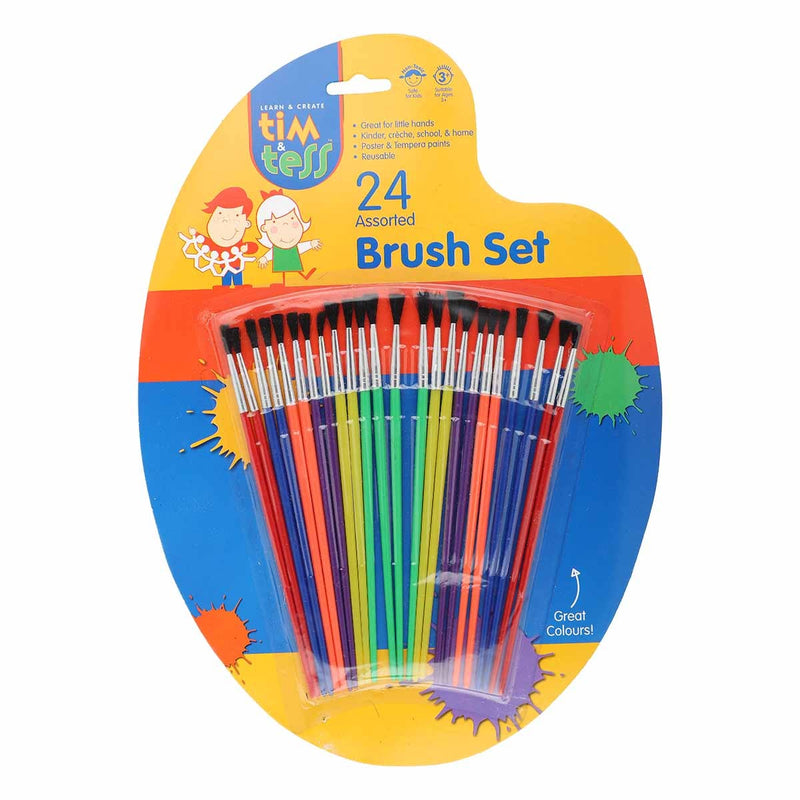Royal Blue Tim & Tess Kids Assorted Brushes 24 Pieces Brushes