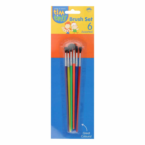 Tim & Tess Kids Brushes Asst 6pcs