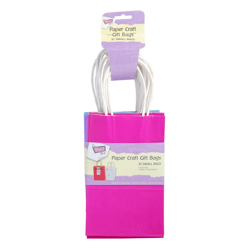 The Paper Mill Paper Craft Bags 10 Pieces Bright Colours
