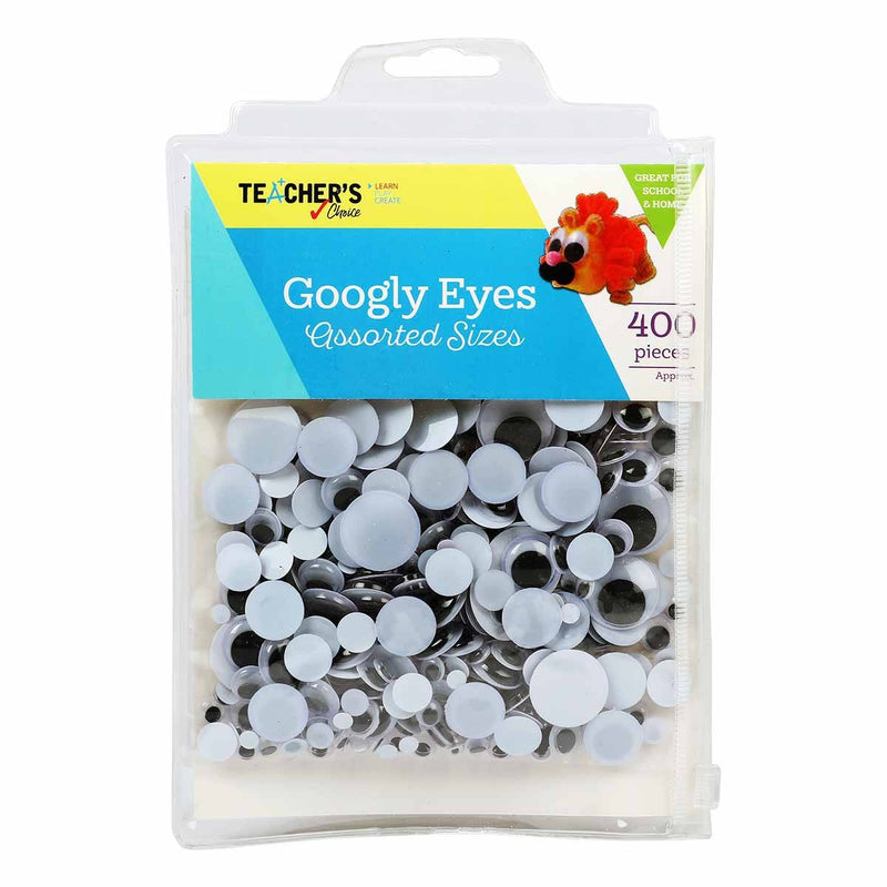 Teacher's Choice Googly Eyes Assorted Sizes 400 Pieces
