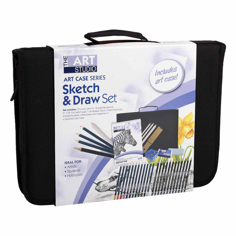 Lavender The Art Studio Sketch & Draw Set Art Case Series Pencils