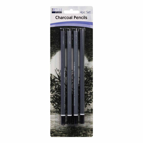 The Art Studio Charcoal Sketching  Pencils 4 Pieces