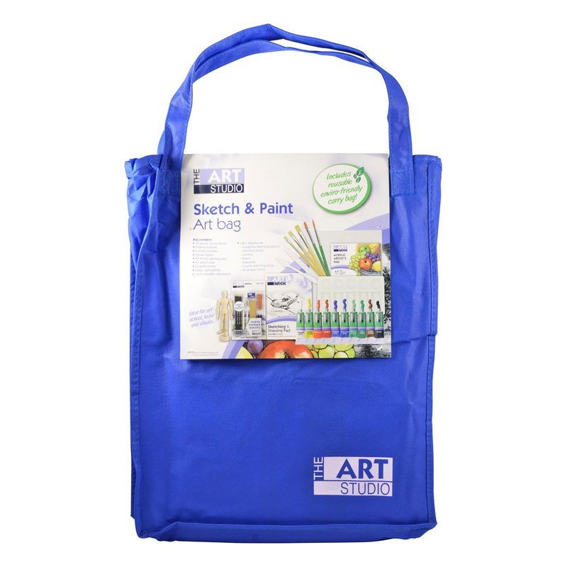 Royal Blue The Art Studio Ultimate Sketch & Paint Art Bag 35 Pieces Art Accessories