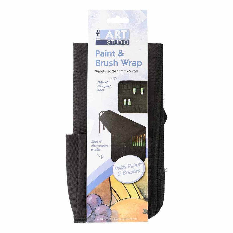 Dark Slate Gray The Art Studio Paint & Brush Wrap Wallet Brushes
