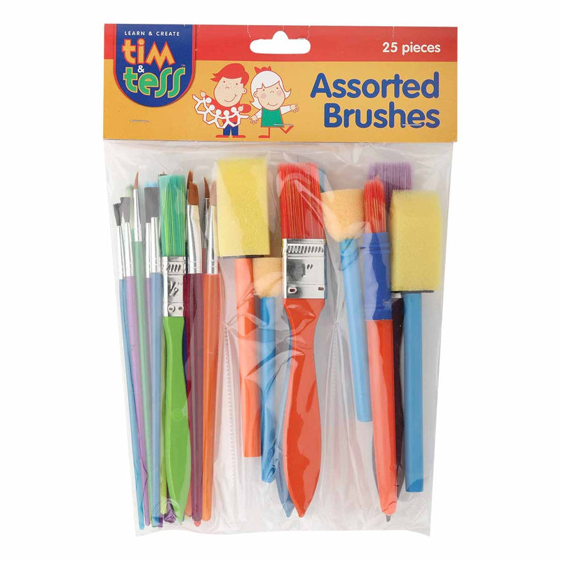 Tim & Tess Assorted Brush Pack 25pcs
