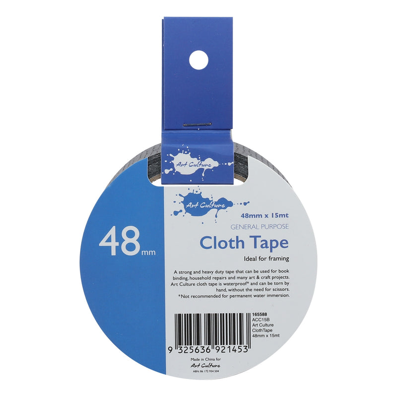 Art Culture Cloth Tape 48mm x 15m Black