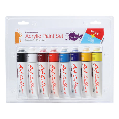 Art Culture Acryl. paint Cool&Warm Tube set 8x75ml