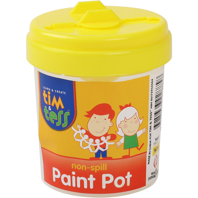 Tim & Tess Non-Spill Paint Pot Yellow