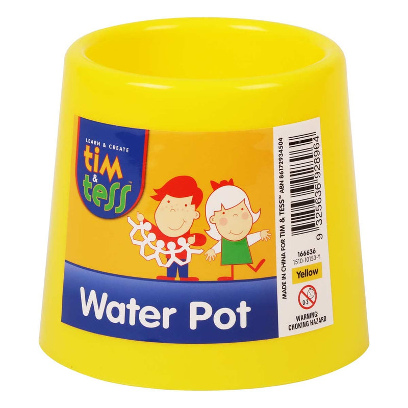 Tim & Tess Water pot 3.5x4.5x3.35in yellow