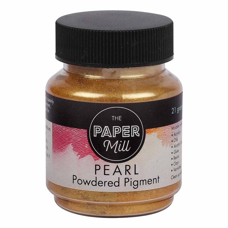 The Paper Mill Pearl Powder Pigment 21g Aztec Gold