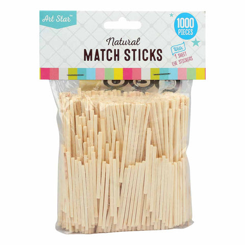 Artstar Natural Match Sticks 1000pk