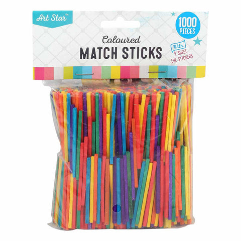 Artstar Coloured Match Sticks 1000pk