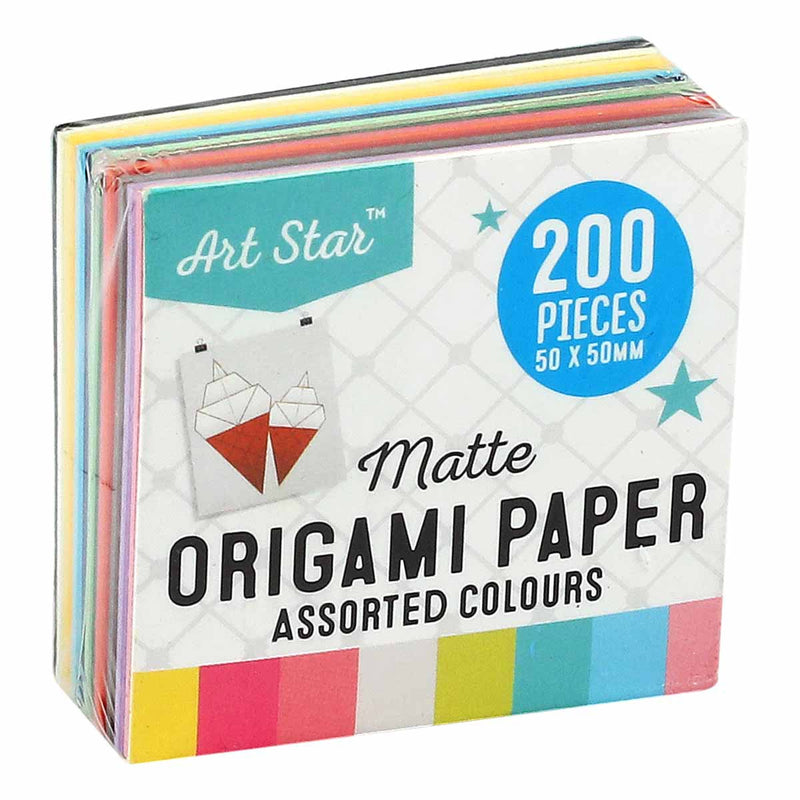 Art Star Square Origami Paper 5 x 5cm 200 Sheets