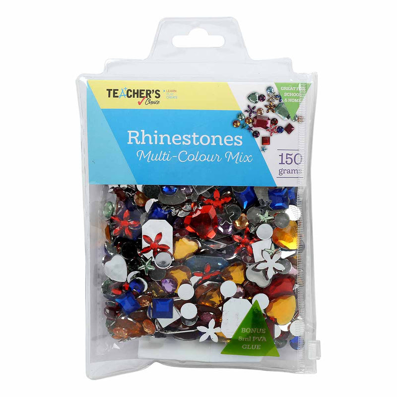 Teacher's Choice Rhinestones Multi-Colour Mix 150g