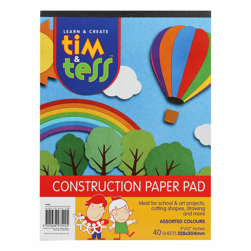 Tim & Tess Construction Pad 22.5 x 30cm 40 Sheets