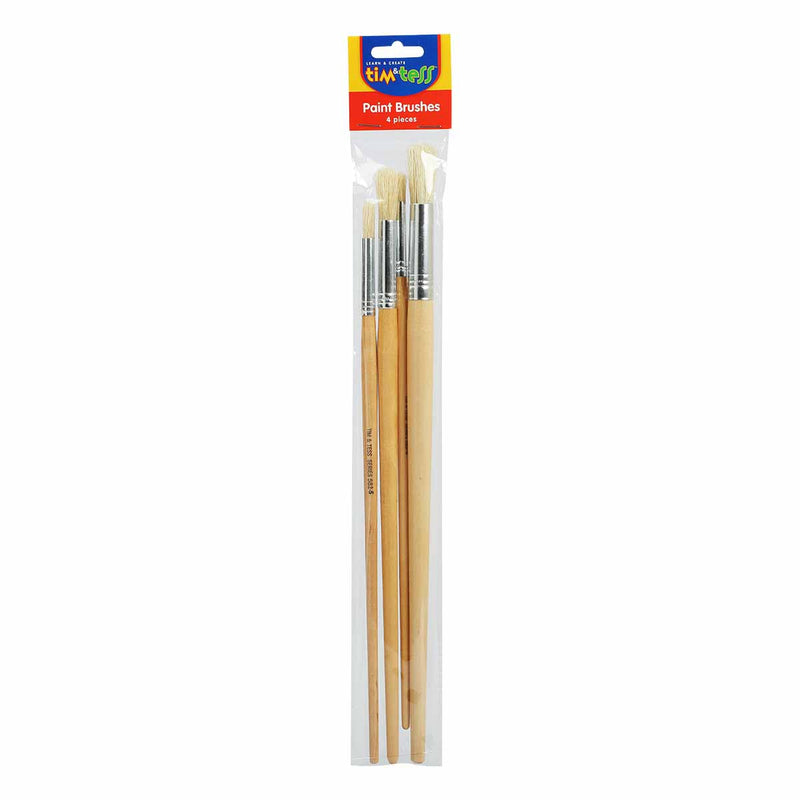 Tim & Tess Round Long Handle Brushes 4 Pieces