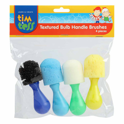 Tim and Tess Textured Bulb Handle Brushes Set 4