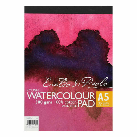 Eraldo Di Paolo A5 Watercolour Pad Rough 300gsm 10 Sheets