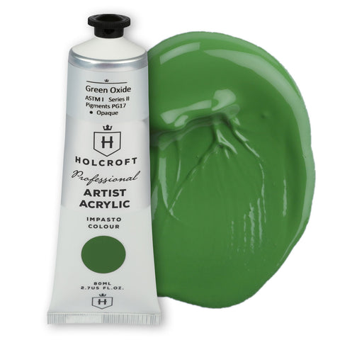 Holcroft Professional Acrylic Paint 80ml Green Oxide S2