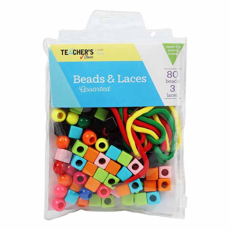 Teacher's Choice Beads & Laces Assorted Plastic Shape and Colours