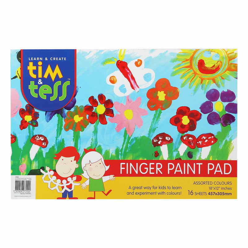 Tim & Tess Finger Paint Pad 30cm x 45cm 16 Sheets