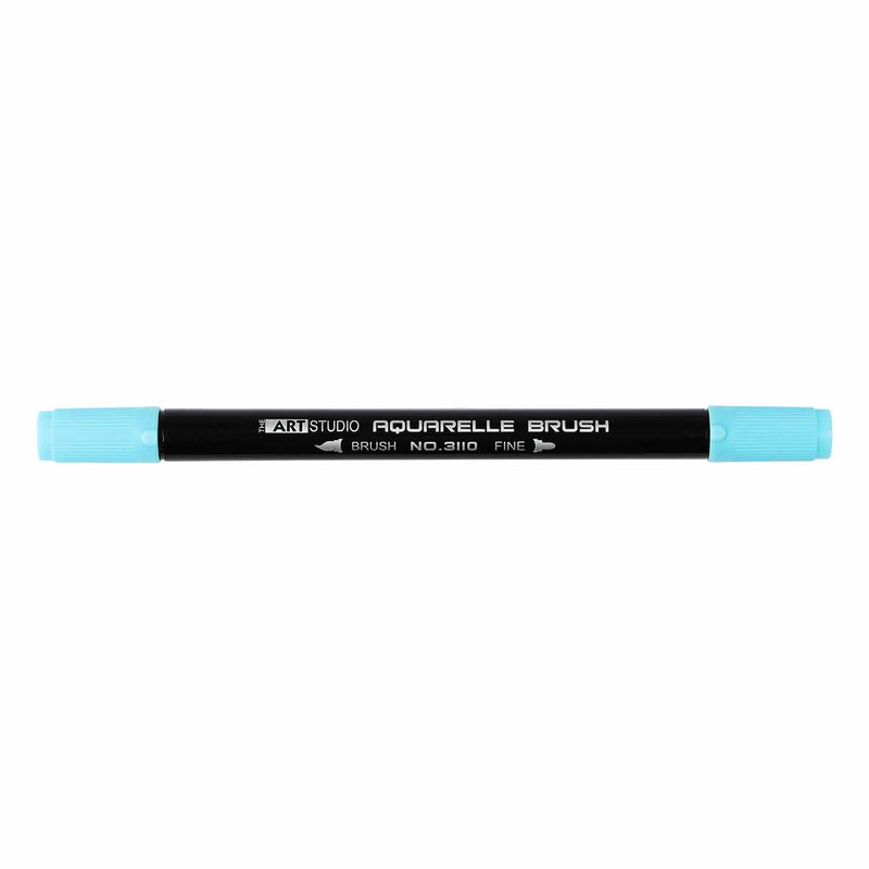 Black The Art Studio Aquarelle Brush Pen Dual Tip 26 Light Blue Pens